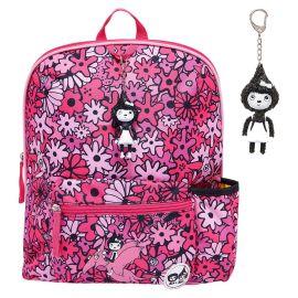 ZIP & ZOE - Midi Kid's Backpack - Floral Pink
