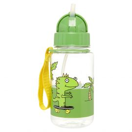 ZIP & ZOE - Drinking Bottle with Straw - Dylan Dino Palm
