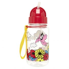 ZIP & ZOE - Drinking Bottle with Straw - Floral Brights