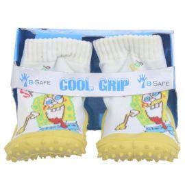 COOL GRIP Baby Shoe Socks Sponge Bob White
