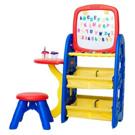 Crayola - Double-sided Easel with a 6-in-1 Creativity Center Board