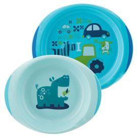 Chicco - Baby's Dish Set 12m+ - Blue