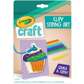 Crayola Clay String Art Cupcake