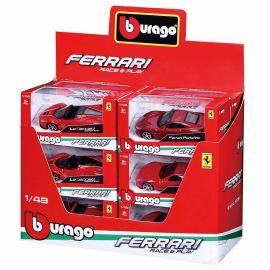 Bburago - Ferrari Raceplay Scale 1:43 Diecast Car Set 1pc - Assorted