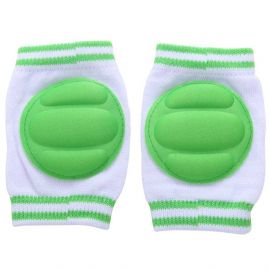 B-Safe Knee Pads Green Protective Pads (White)