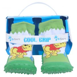 COOL GRIP Baby Shoe Socks Winne the Pooh-Green