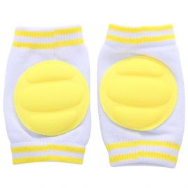 B-Safe Knee Pads Yellow Protective Pads (White)
