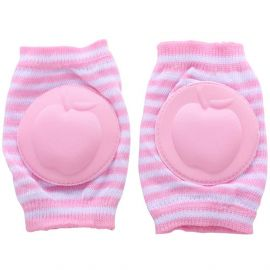 B-Safe Knee Pads Pink Protective Pads (Stripes)