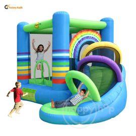 Happy Hop  Rainbow Bouncy Castle with Slide