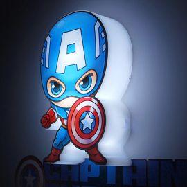Mini Captain America 3D Deco Led Wall Light