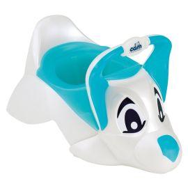 Cam - Funny Dog Shaped Potty - Blue & White