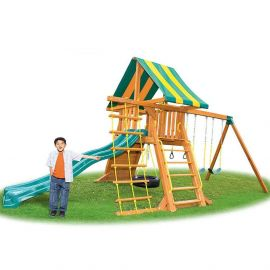 Eastern Jungle Gym - Supremescape Swing Set With Slide & Tent