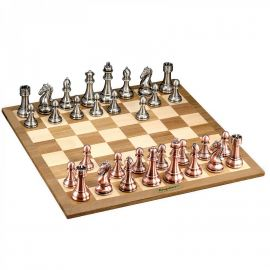 Merchant Ambassador - Kasparov Grand Master Silver & Bronze Chess Set