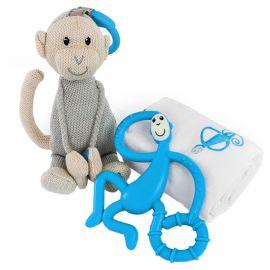 Matchstick Monkey - Teething Gift Set - Blue