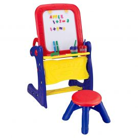 Crayola - Qwikflip Easel-to-Desk 2-in-1 Eas