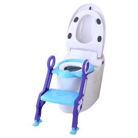 Eazy Kids Step Stool Foldable Potty Trainer Seat- Blue
