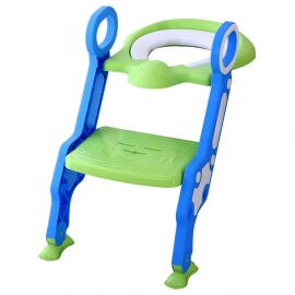 Eazy Kids Step Stool Foldable Potty Trainer Seat- Green