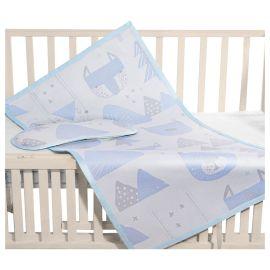Sunveno - Baby Mattress Protector Mat Medium - Blue