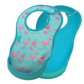 Bibetta - Ultrabib Double Pack - Flamingo & Turquoise Sea
