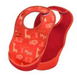 Bibetta - Ultrabib Double Pack - Safari Pattern And  Red