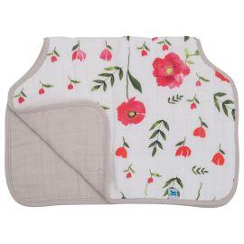 Little Unicorn - Cotton Muslin Burp Cloth - Summer Poppy