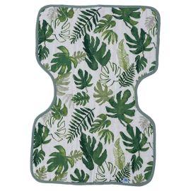 Little Unicorn - Cotton Muslin Burp Cloth - Tropical Leaf