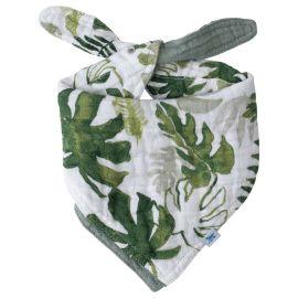 Little Unicorn - Cotton Reversible Bandana Bib Tropical Leaf