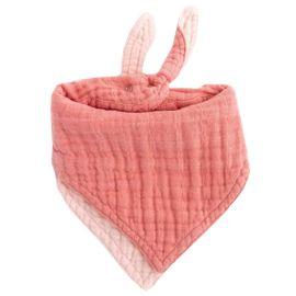 Little Unicorn - Muslin Reversible Bandana Bib - Rose Petal