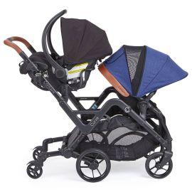 Kolcraft - Contours Curve Tandem Twin Stroller - Indigo
