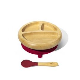 Avanchy - Bamboo Suction Classic Plate + Spoon MG