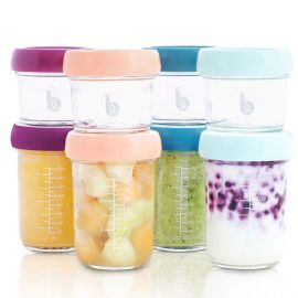 babymoov - Glass Bowls 4x240ml + Airtight Containers 4x120ml