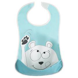 Badabulle - Soft Bibs - Blue Bear