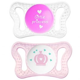 Chicco - Physio Micro Soother 0-2M 2pc - Princess & Crown