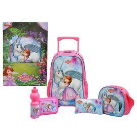 """Disney Sofia The First Promotion Trolley Bag 18"""" School Set"""