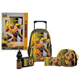 "Transformers - Bumblebee Trolley Bag 18"" School Set"
