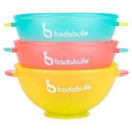 Badabulle - Set Of 3pcs Pp Bowl - Blue, Pink & Yellow