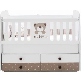 Belis - Teddy Baby Convertible Bed with Drawers 60x120cm