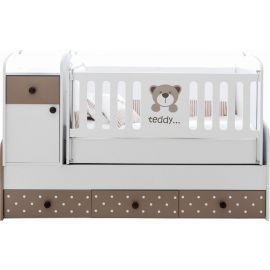 Belis - Teddy Baby Growing  Bed with Drawers 60x170cm