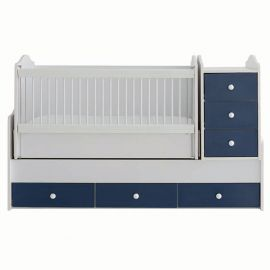 Belis - Eva Baby Bed with Drawers 60x170cm - Kingdom Blue
