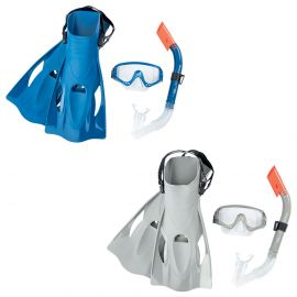 Hydro-Pro Blacksea Snorkl & Fin Set L/Xl