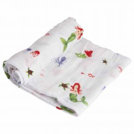 Little Unicorn - Cotton Muslin Swaddle - Mermaid