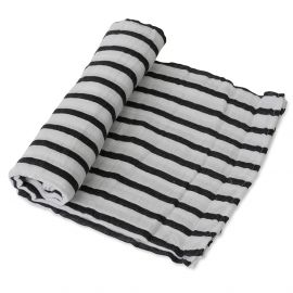 Little Unicorn - Cotton Muslin Single Swaddle Breton Stripes
