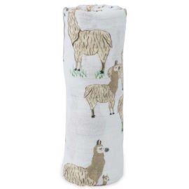 Little Unicorn - Cotton Muslin Swaddle - Llama Llama