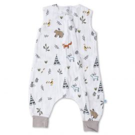 Little Unicorn - Muslin Sleep Romper - Forest Friends
