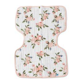 Watercolor Roses Cotton Muslin Burp Cloth
