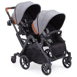Kolcraft - Contours Curve Tandem Twin Stroller - Gray